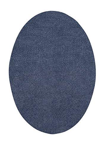 Bright House Solid Color Oval Shape Cobalt Blue 4X6 Oval Shape   Area Rug