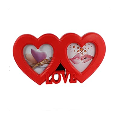 Double Heart Shape Love Photo Frame: Amazon.in: Jewellery