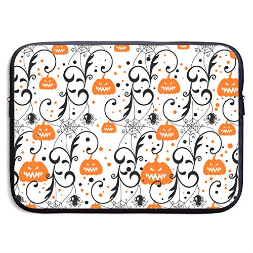 Laptop Sleeves Cover, 360° Protective Vertical Style Laptop Pouch Skin Cover for Notebook Pc, Slim Vertical Bag Compatible 13-15 inch MacBook Air (Happy Halloween Party Pumpkin) -