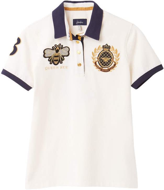 Joules Womens Claredon Embroidered Casual Polo Shirt