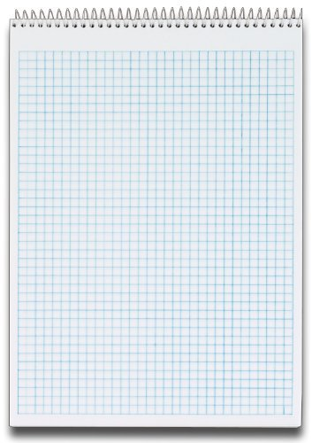 TOPS Docket Quadrille Pad, Wire Bound, 8-1/2 x 11-3/4 Inches, Quad Rule (4 x 4), White Paper, Black Covers, 70 Sheets per Pad (63801) by Tops