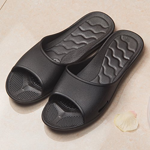 mousse YMFIE chaussons chaussures de Les sandales piscine chaussons chaussures et mousse bain black soft semelles WUnSpW0rF