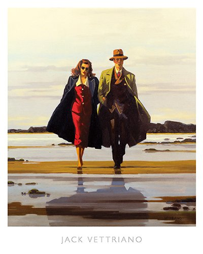 (The Road to Nowhere Jack Vettriano Romance Vintage Print Poster 15.75x19.75)
