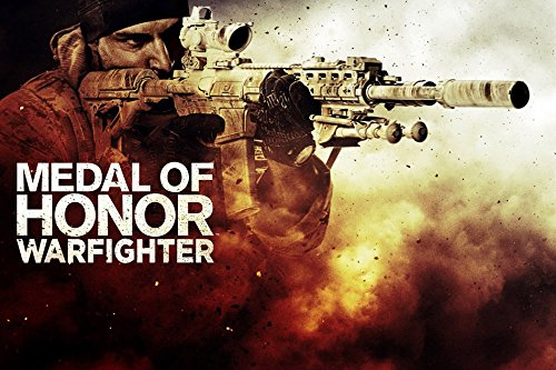 makeuseof G165 Medal of Honor Warfighter Game Poster Art Wall Pictures for Living Room in Canvas fabric cloth Print (Medal Of Honor Warfighter Poster)