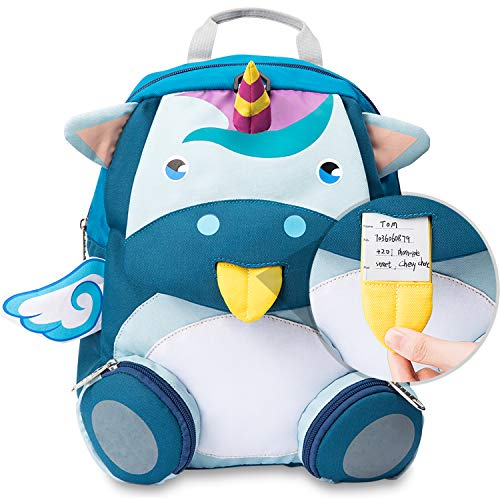 Unicorn Kid Backpack Toddler Backpack Kindergarten Satchel with Anti-Lost Strap