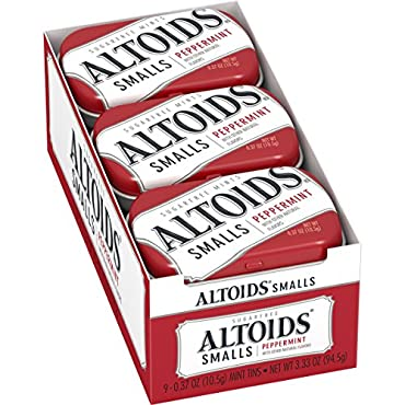 Altoids Smalls Peppermint Sugarfree Mints, 0.37 ounce (9 Packs)