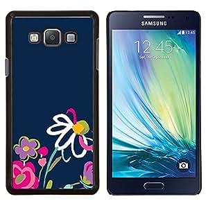 EJOOY---Cubierta de la caja de protección para la piel dura ** Samsung Galaxy A7 A7000 ** --Azul marino Primavera Pink Daisy Naturaleza