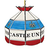 Trademark Gameroom Premier League Newcastle United 16-Inch Handmade Tiffany Style Lamp