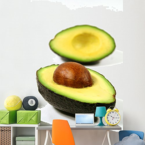 Delicious Delights Basket (Wallmonkeys Avocado Halves Wall Decal Peel and Stick Graphic (72 in H x 48 in W) WM301965)