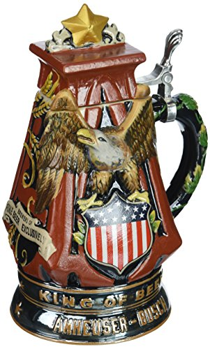 - M. CORNELL IMPORTERS 8573 Anheuser Busch a and Eagle Stoneware Stein