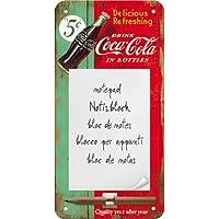 Nostalgic-Art Bloc de Notas Escudo - Coca-Cola