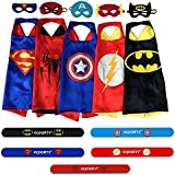 Ecparty 5 Different Superheros Cape and Mask Costumes Set...