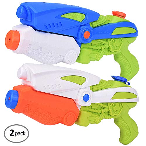 FEEBRIA Super Blaster Water Gun Soaker for Children Adults 2 Pack (Orange)]()