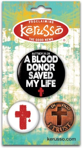 Carded Button Set - Blood Donor - Christ - Donor Pin Shopping Results