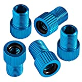 Chartsea 5PC Anodized Machined Aluminum Alloy Bicycle Bike Tire Valve Caps Dust Covers French Style Presta Valve Cap (Sky Blue)