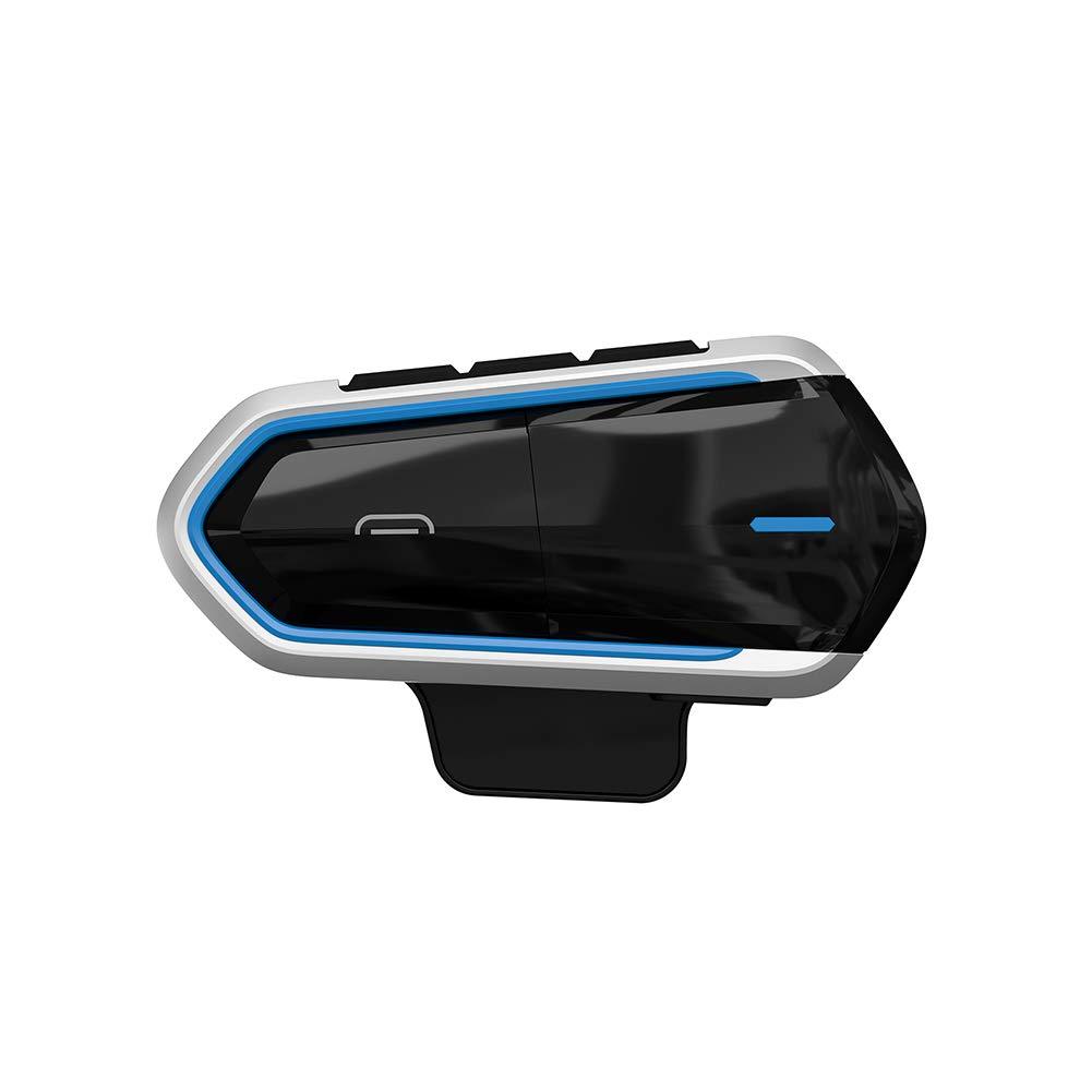 Azul obiqngwi Interfaz inal/ámbrico de Las Auriculares CSR Bluetooth 4.1 intercomunicador del Casco Motocicleta QTB35