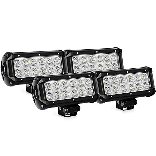 Nilight 4PCS 36w 6.5Inch Flood Led Light Bar Off Road Lights Super Bright Driving Fog Light Boat Lights Driving Lights Led Work Light SUV Jeep Lamp,2 Years Warranty (Best Led Bar Driving Lights)