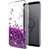 Samsung Galaxy S9 Plus case SunStory Luxury Fashion Design with Moving Shiny Quicksand Glitter and Double Protection with PC layer and TPU Bumper Case for Samsung Galaxy S9 Plus. (Purple)