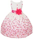 100% Cotton Floral Spring Easter Flower Girl Dress in Fuchsia Daisy - 8
