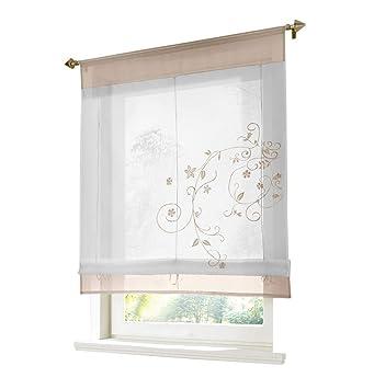Amazonde Zalago Vorhang Gardine Fenster Raffrollo Raffgardine