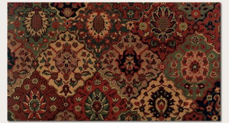 Couristan 3721/4876 Everest Antique Baktiari/Midnight 2-Feet by 3-Feet 7-Inch Rug Couristan Oriental Rugs Collection