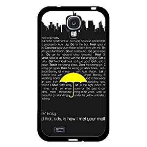 Personalized Custom How I Met Your Mother Phone Case Hardshell Carrying Cover for Samsung Galaxy S4 I9500 Comedy HIMYM Cool Design