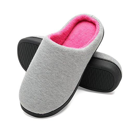 Scarpe Confortevole Da Donna Casa Pantofole Donna Interno Magenta Grigio E Antiscivolo Per leggero Ultra YSx6zTFR