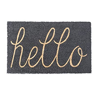 DII Indoor/Outdoor Natural Coir Easy Clean Rubber Non Slip Backing Entry Way Doormat For Patio, Front Door, All Weather Exterior Doors