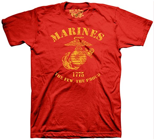Black Ink Design Marines The Few The Proud Men's T-Shirt, Color Red, Size XL