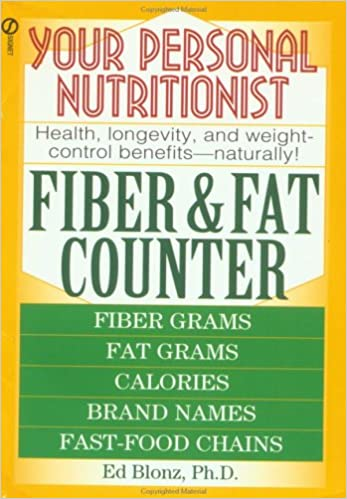 your personal nutritionist fiber and fat counter ed blonz