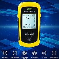 Lucky portátil con CABLE buscador de Profundidad Sonar transductor Sensor con cable de 7,5 m, 45 grados ángulo de haz, extraíble flotador: Amazon.es: Electrónica