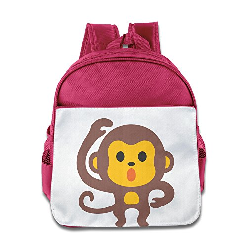 Price comparison product image OurLove Emoji Monkey Unisex Daypack Brand New Size Size Key Pink