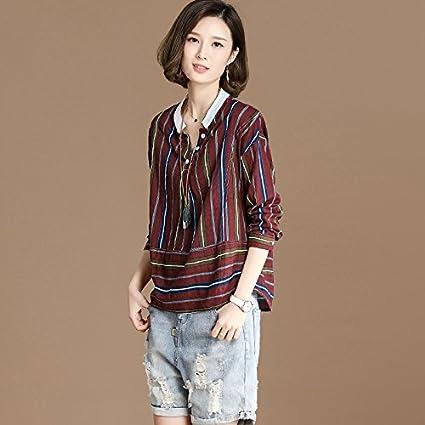 dccb13d953 XXIN  Verano Mujer Banda Camisa Manga Larga Camiseta Cuello Tortuga Suelto