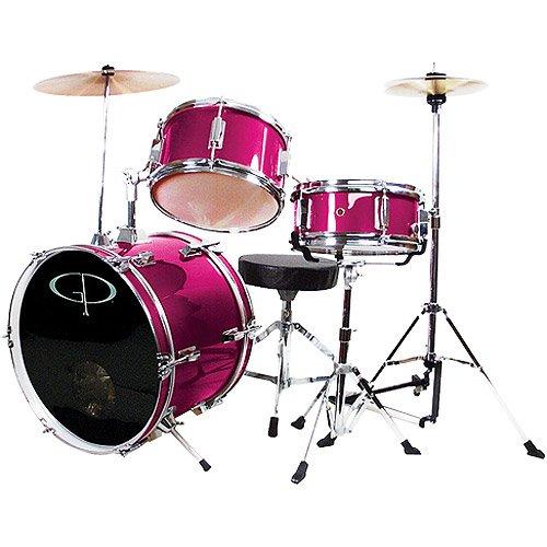 GP Percussion 3-Piece Complete Junior Drum Set, M