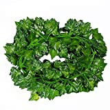 VOKTMPG 84 Feet Artificial Ivy Leaf Garland Plants Vine for Hanging Wedding Garland Decoration 12 Pack Fake Foliage Flowers Home Kitchen Garden Office Wedding Wall Decor (84 Ft)