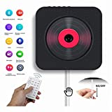 Portable CD Player with Bluetooth, Wall Mountable CD/DVD Music Player Home Audio FM