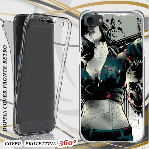 CUSTODIA COVER CASE MERCENARIES PER IPHONE 7 FRONT BACK