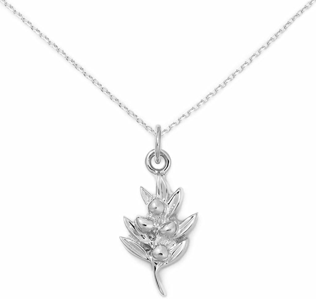 Delicacies Olive Sterling Silver Necklace, Food Jewelry for Food Lovers, Chefs, Cooks and Epicureans