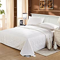 LILYSILK Silk Duvet Machine Washable Cotton Covered Filled with 100% Natural Mulberry Silk-Luxury Top Quality Comforter, White,Cal.King( 96x110inch), Silk Weight: 1kg
