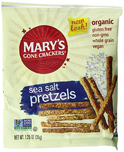 UPC 897580000472, Mary's Gone Crackers Snack Bags, Sea Salt Pretzels, 1.25 Ounce, 25 Count