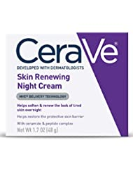 CeraVe Night Cream for Face | 1.7 Ounce | Skin Renewing Night Cream with Hyaluronic Acid & Niacinamide | Packaging May Vary