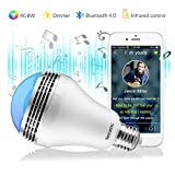 Cheap Texsens Smart LED Music Light Bulb – Light Flashes as Music Goes