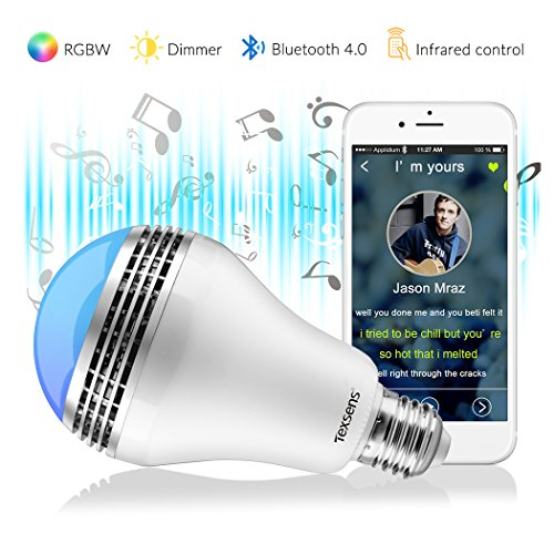 Texsens Smart LED Bulb-Light Flashes as as Music Goes Medium-remote