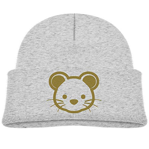 Gold Mouse Baby Beanies Caps Knit ()