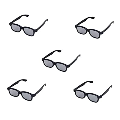 52fa3b06f2 Domccy 5 Pairs of Adults Passive Circular Polarized Lens 3D Glasses for  Movie Cinema