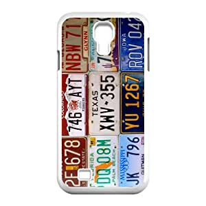 Plate Number Samsung Galaxy S4 Case - Plate Number Durable Back Case Cover Skin for Samsung Galaxy S4