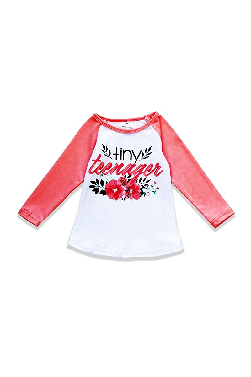 Honeydew cutie Boutique Tiny Teenager Pink Long Sleeve Girls Top