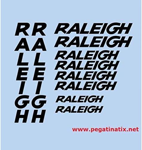 SUPERSTICKI Raleigh Sponsorset 317 ca 30cm Motorrad Bike Fahrrad Mountain Aufkleber Bike Auto Racing Tuning aus Hochleistungsfolie Aufkleber Autoaufkleber Tuningaufkleber Hochleistungsfolie