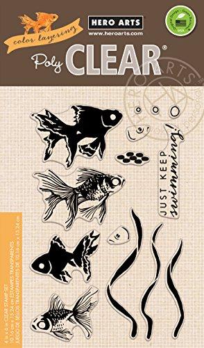 (Hero Arts CL945 Color Layering Goldfish Supplies )