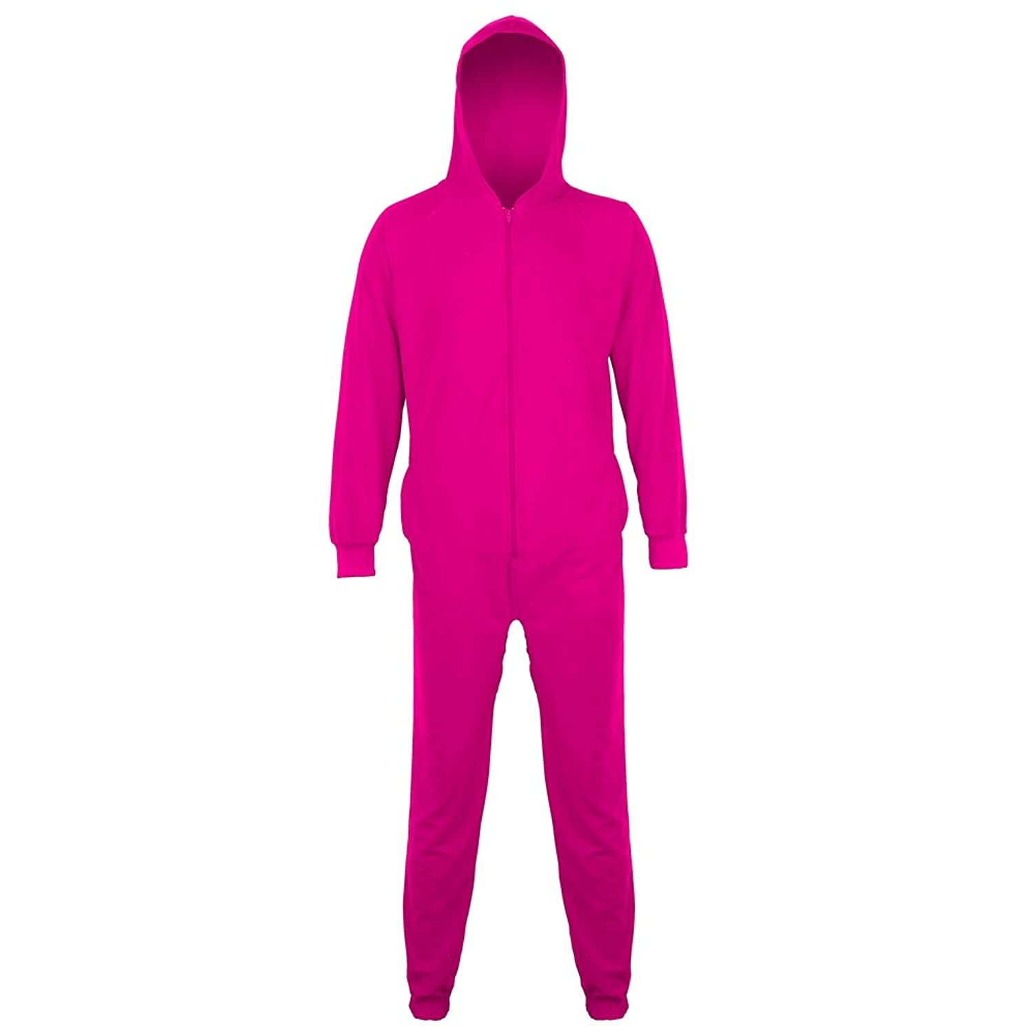 Ladies or Mens Winter Essential Hooded Soft Fleece All In One Onesie Pyjamas